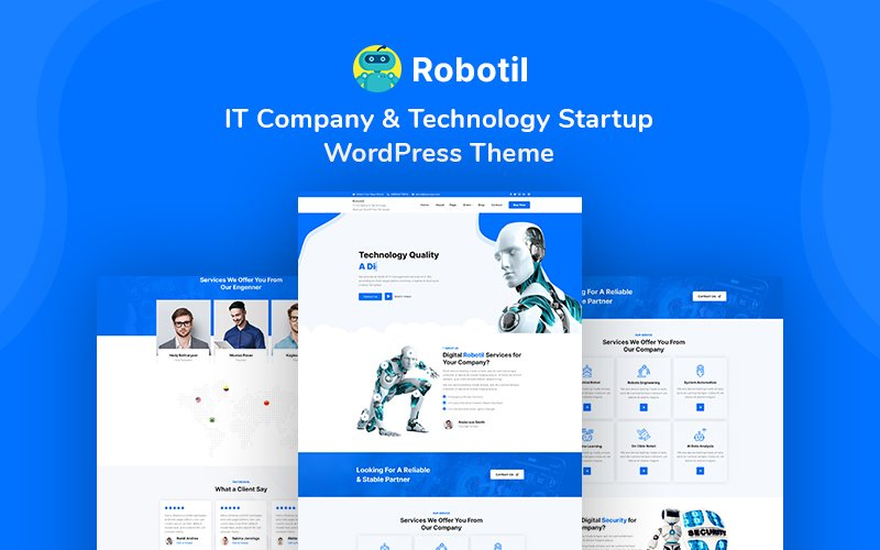 Robotil - IT Company & Technology Startup WordPress Theme