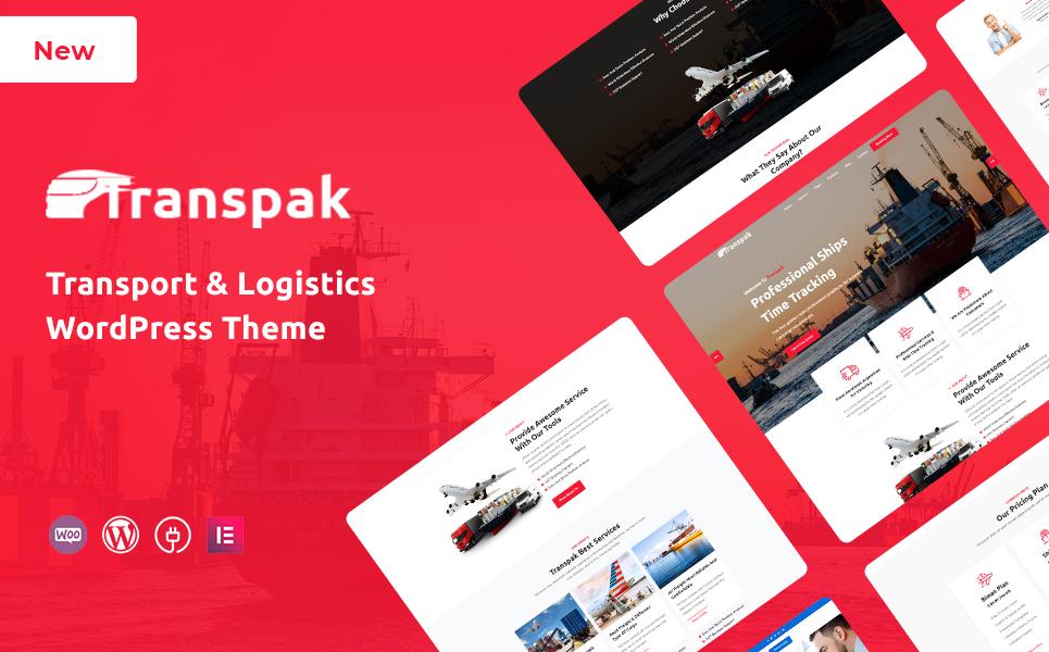 Transpak - Transport & Logistics WordPress Theme Tema WordPress №148687