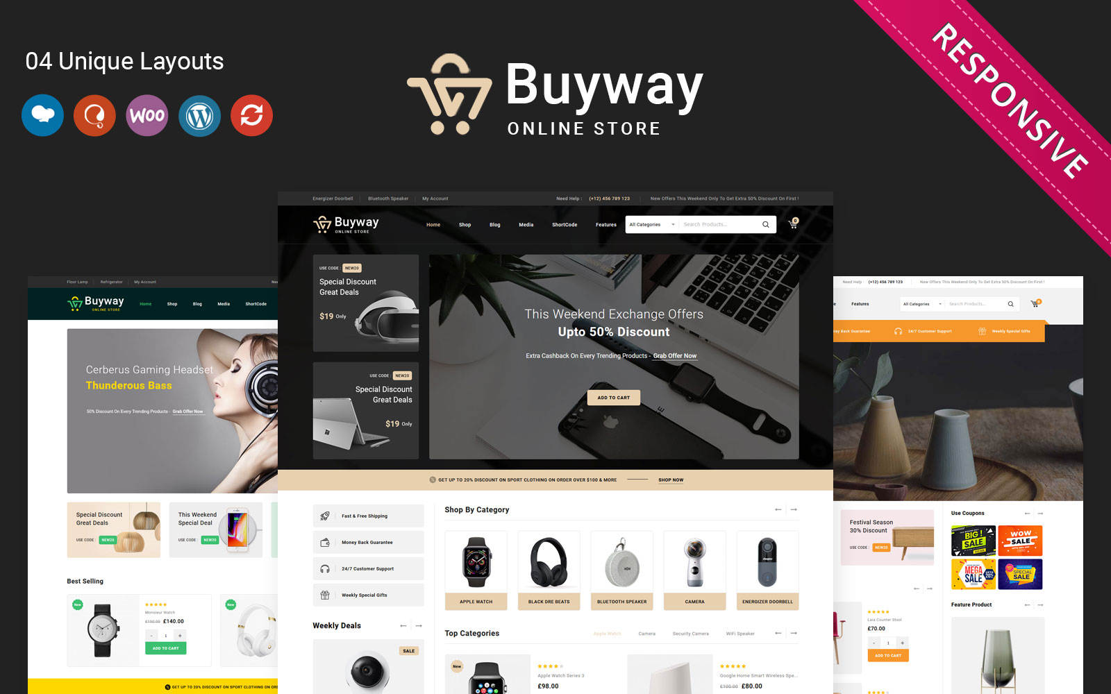 "WooCommerce Theme namens ""Buyway - The Multipurpose Responsive"" #148681"