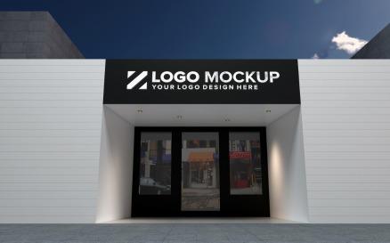 Golden Logo Mockup Store Sign Elegant Product Mockup