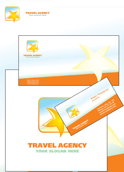 Travel Agency Corporate Identity Template Vector Corporate Identity preview