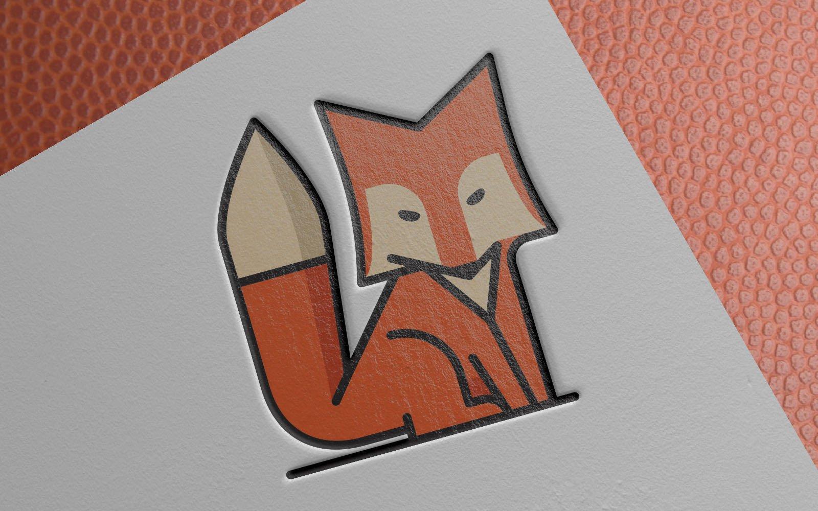 """Modello di Loghi #149129 """"Cute Orange Fox"""""""