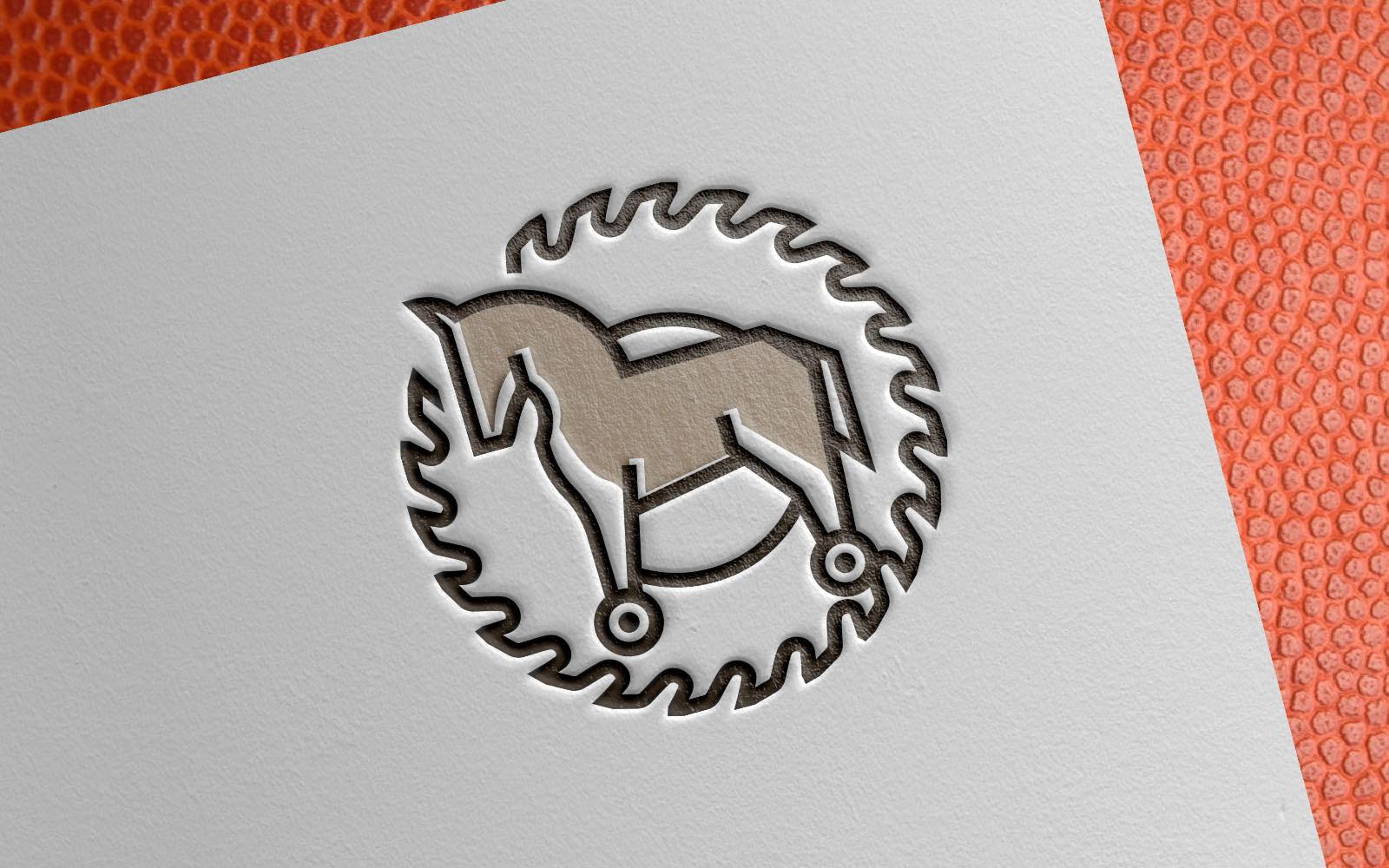 """Template di Loghi #149389 """"Horse Circular Carpenter"""""""