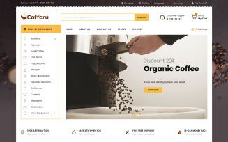 Coffcru - Coffee and Drinks Store PrestaShop Theme