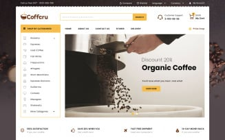 Coffcru - Coffee and Drinks Store PrestaShop Theme