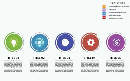 Presentation Business Concepts Vector Design Infographic Element