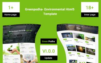 Greenpodha- Environmental Html5 Website Template
