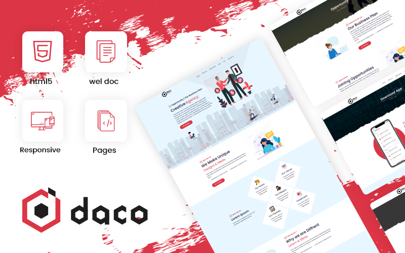 Daco - Corporate Business Consulting Theme Website Template