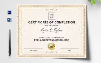 Clean and Professional Certificate Template