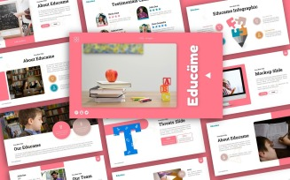 Educame Education Presentation PowerPoint template