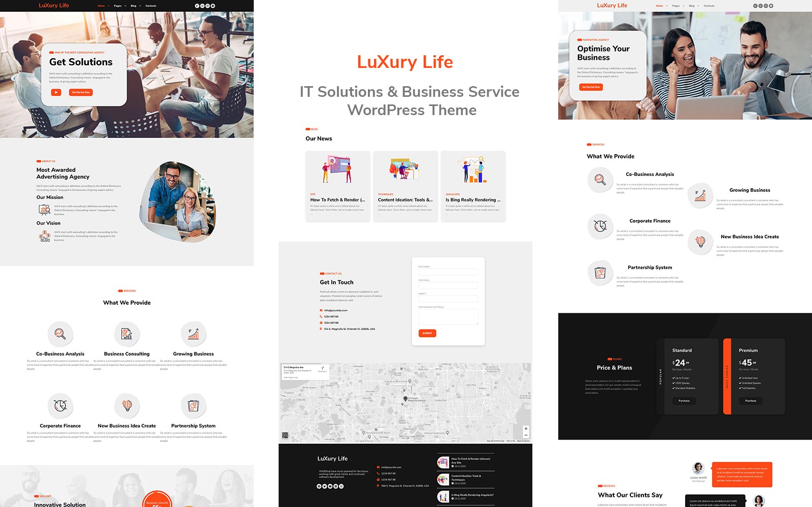 """LuxuryLife  - IT Solutions & Business Service"" Responsive WordPress thema №149912"