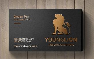 Young Lion Logo Logo Template
