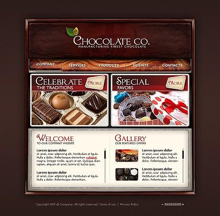 Propriul site preparate din ciocolata