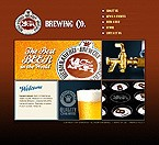 Flash: Food & Drink Flash Site Flash 8 Brewery Templates