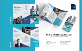 Business Trifold Brochure Photoshop