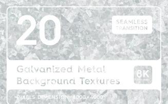 20 Galvanized Metal Textures Background