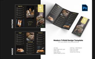 Luxury Bakery Trifold Brochure