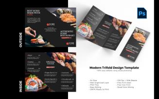 Sushi Food Trifold Brochure