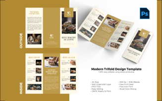 Cake Food Trifold Brochure