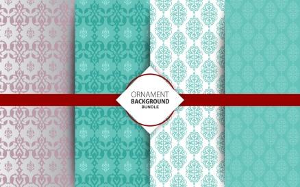 4 Ornamental Background Set 5 Pattern