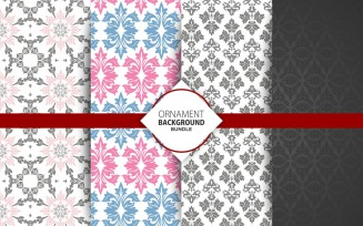 4 Seamless floral and Ornamental Background Set 20