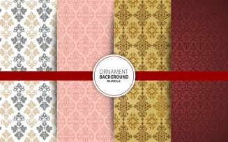 4 Seamless Ornament Background Set 22