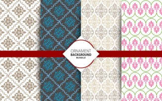 4 Seamless Ornament Background Set 23