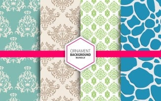 4 Seamless Ornamental Background Set 24