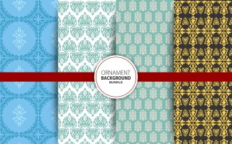 4 Seamless Ornamental Background Set 25