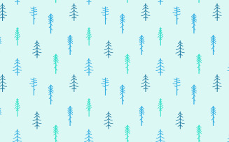 Winter Coniferous Seamless