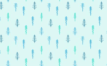 Winter Coniferous Seamless Pattern