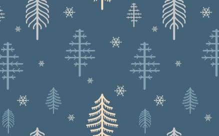 Winter Fir Seamless Pattern