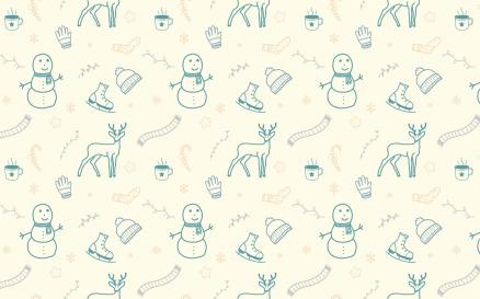Winter Doodle Seamless Pattern