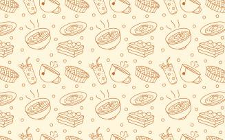 Food Meal Menu Doodle Seamless