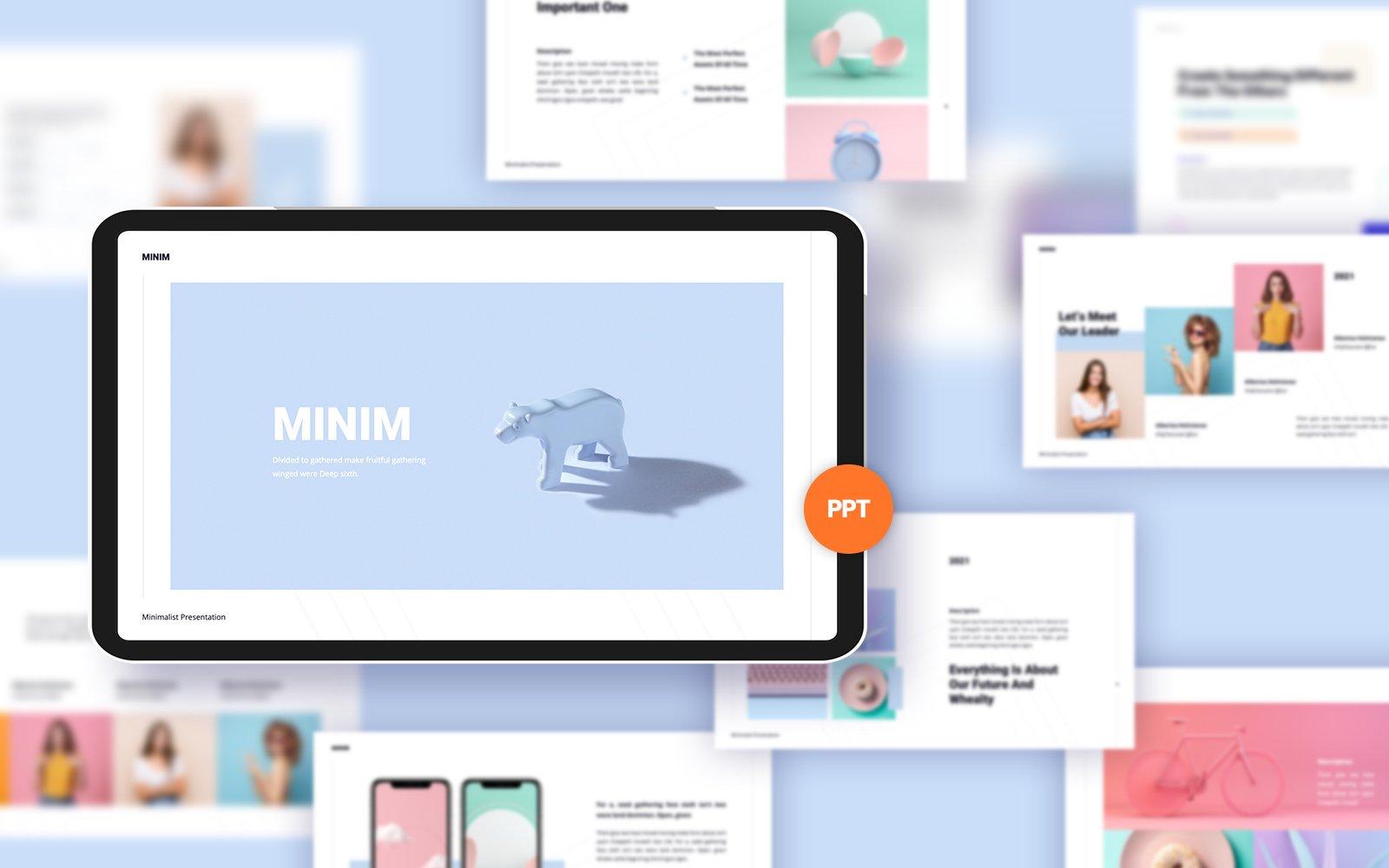 Minim Template PowerPoint №150264