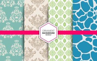 4 Seamless Ornamental Background Set 24 Pattern