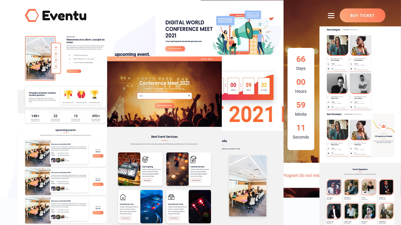 Eventu - Conference, Event & Meetup HTML5 Website Template