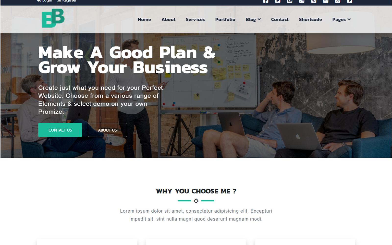 BB Multipurpose Business Modern Bootstrap Responsive №150300