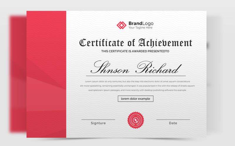 Clean Beautiful Certificate Template 150304