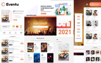 Eventu - Conference, Event & Meetup HTML5 Website Template