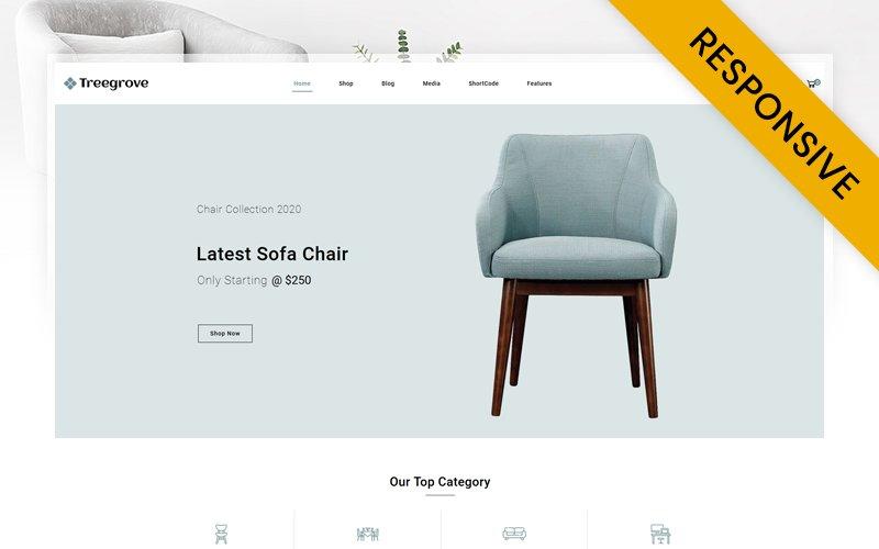 "Modello WooCommerce Responsive #150302 ""Treegrove - Furniture Store"""