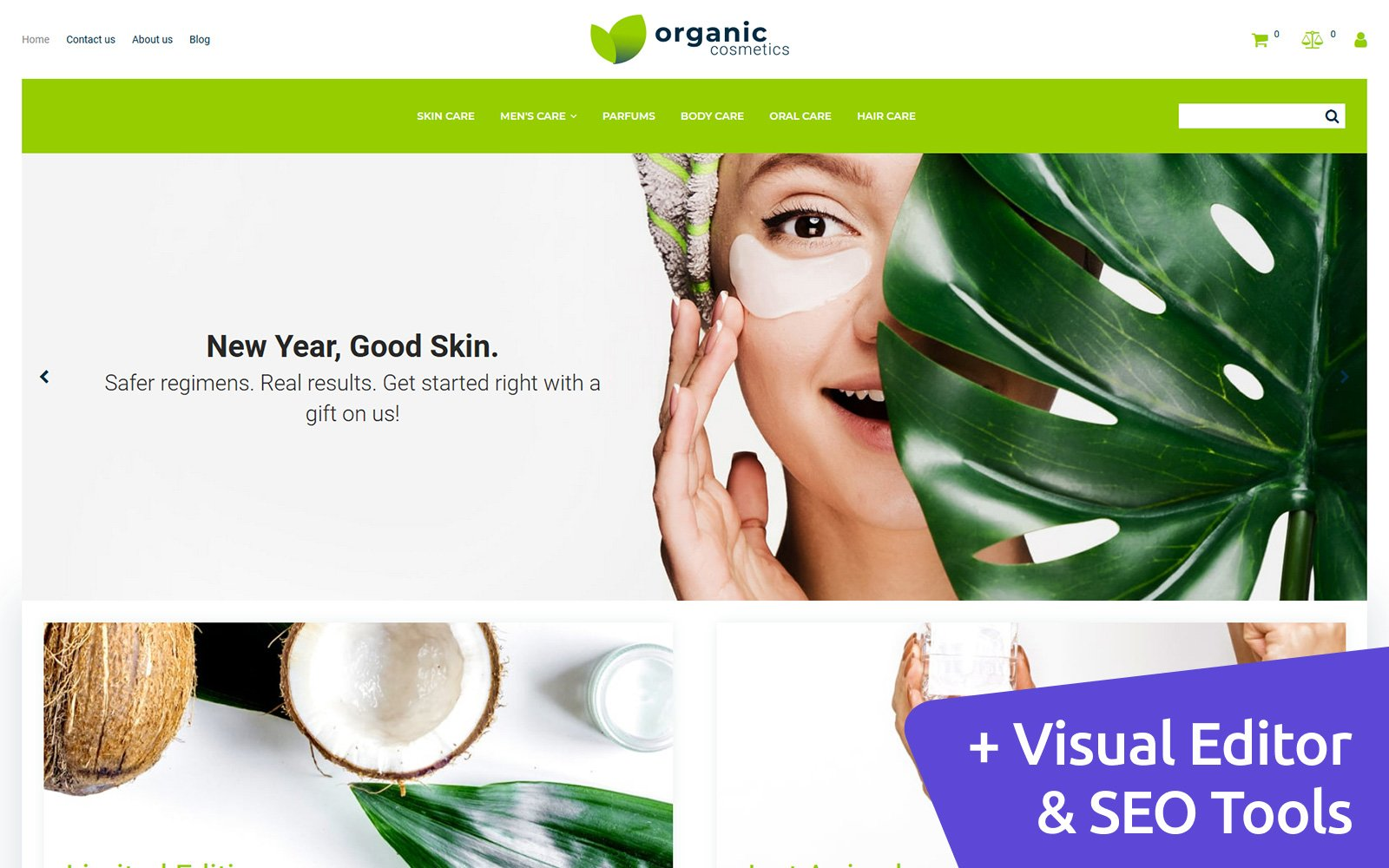 Organic Cosmetics - Make Up Shop Template Ecommerce MotoCMS №150340