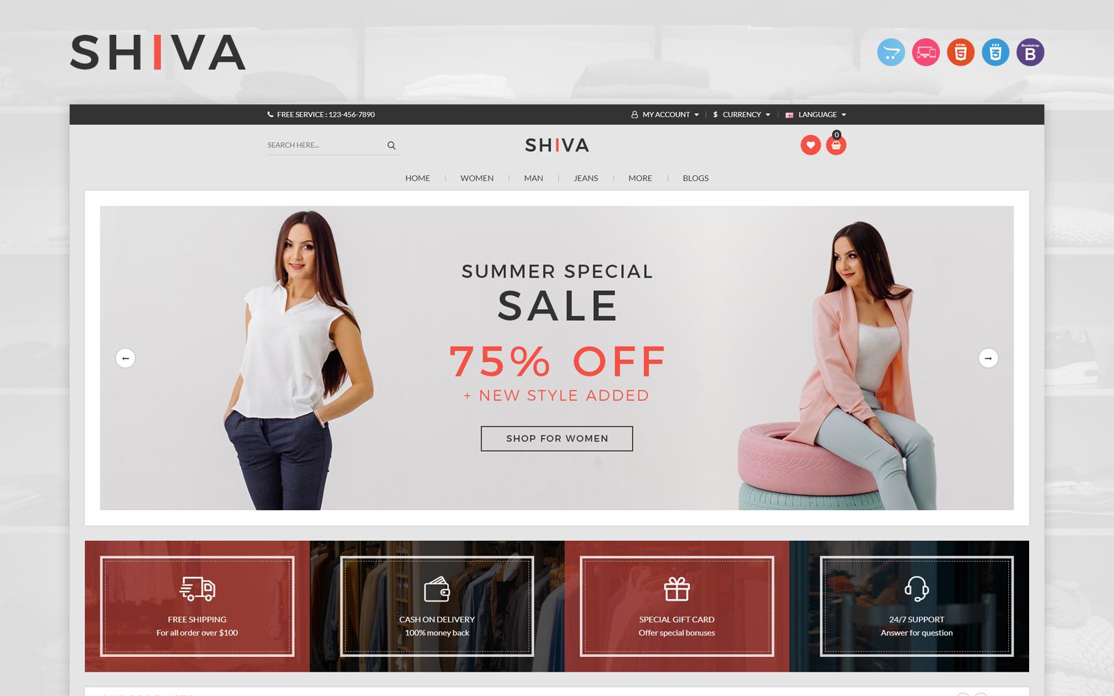 Responsywny szablon OpenCart Shiva #150301