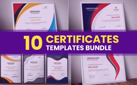 10 Bundle Certificate Template
