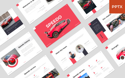 Speedo - Car PowerPoint Template