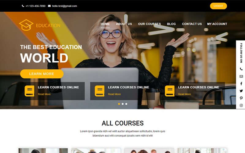 Education Course WordPress Theme