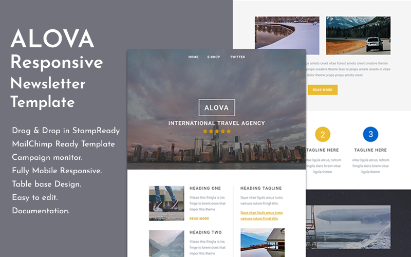 Alova - Travel Email Newsletter Template