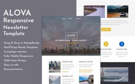 Alova - Travel Email Newsletter Template