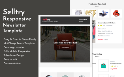Selltry - ECommerce Responsive Email Newsletter Template