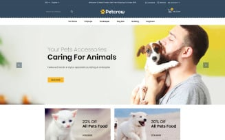Petcrow - Pet Online Store PrestaShop Theme